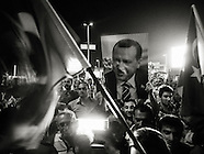 AKP supporters at Ataturk airport - Thursday, June 6, Turkey 2013