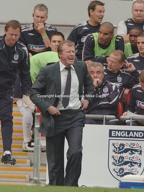 STEVE MCLAREN, Manager, England-Israel, Euro 2008, Wembley 8/9/2007
