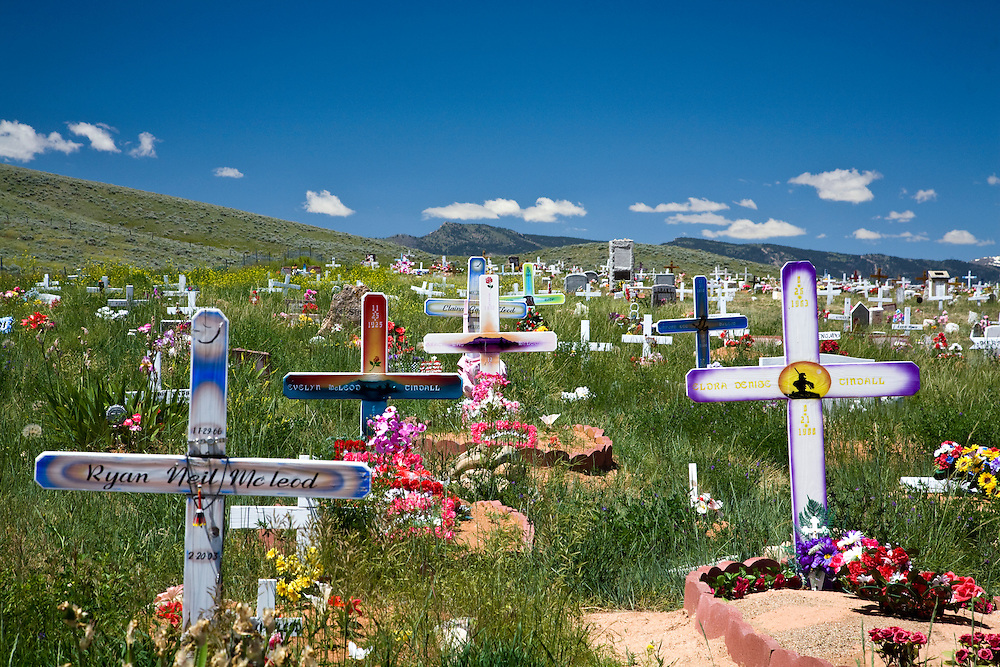 Fort Washakie, WY:  Sacajawea Cemetery lies on the hilly outskirts of this small town and is purported to be the burial place for Indian guide Sacajawea, guide to Lewis and Clark on their famous exporation of the American west.  The nearest main town is Lander.