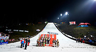 Poland, Wisla Malinka - 2017 November 18: General view of awarding ceremony during FIS Ski Jumping World Cup Wisla 2017/2018 - Day 2 at jumping hill of Adam Malysz on November 18, 2017 in Wisla Malinka, Poland.<br /> <br /> Mandatory credit:<br /> Photo by © Adam Nurkiewicz<br /> <br /> Adam Nurkiewicz declares that he has no rights to the image of people at the photographs of his authorship.<br /> <br /> Picture also available in RAW (NEF) or TIFF format on special request.<br /> <br /> Any editorial, commercial or promotional use requires written permission from the author of image.