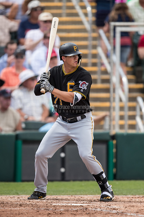 FORT MYERS, FL- MARCH 01: Kevin Newman #78 of the Pittsburgh Pirates bats against the Minnesota Twins on March 1, 2017 at the CenturyLink Sports Complex in Fort Myers, Florida. (Photo by Brace Hemmelgarn) *** Local Caption *** Kevin Newman