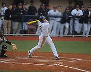 Ole Miss' Auston Bousfield (9) bats vs. Arkansas-Pine Bluff at Oxford-University Stadium in Oxford, Miss. on Wednesday, February 27, 2013.