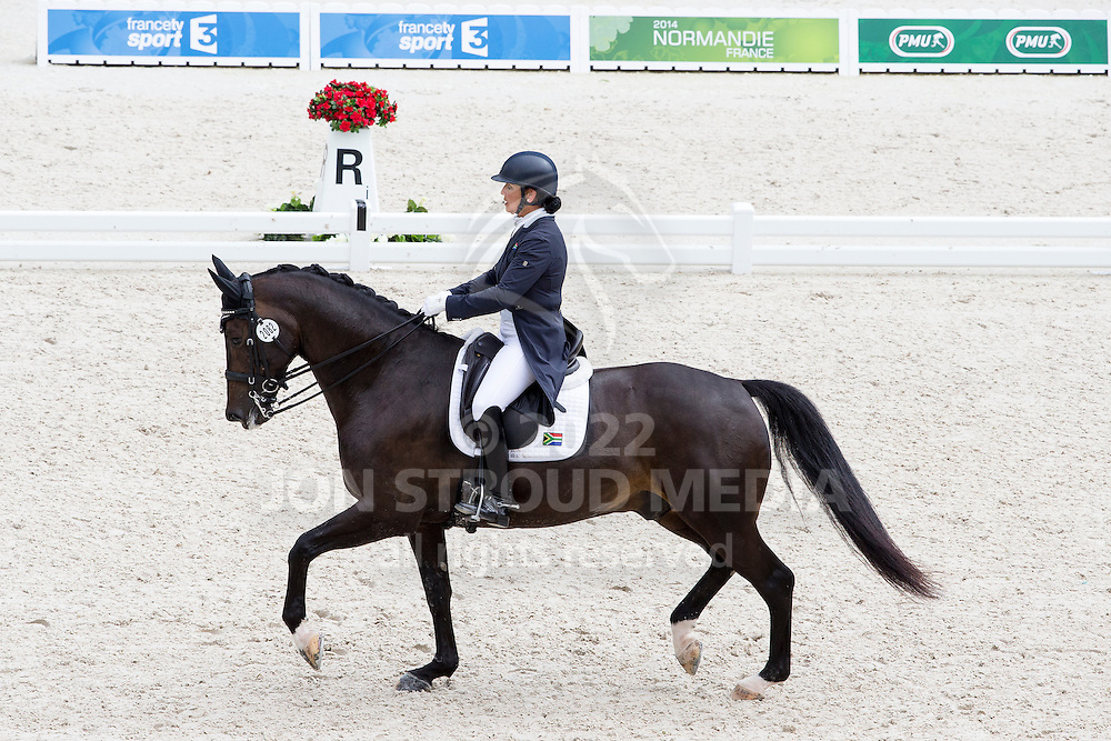 Denise Hallion, (RSA), Wervelwind - Grand Prix Team Competition Dressage - Alltech FEI World Equestrian Games&trade; 2014 - Normandy, France.<br /> &copy; Hippo Foto Team - Leanjo de Koster<br /> 25/06/14