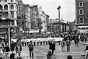 A section of the crowd who marched to the GPO, Dublin in support of the Portlaoise Hunger Strikers.<br /> 16/04/1977