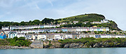 Harbourside homes in bright colours at  Aberaeron, Pembrokeshire, Wales, UK