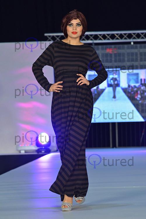 Islamic Design House, Saverah Islamic Fashion Weekend, Global Peace & Unity Event, Excel, London UK, 23 November 2013, Photo by See Li
