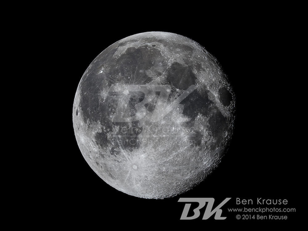 Photo of the Moon from Plymouth, Minnesota on August 12, 2014.  Photo by Ben Krause