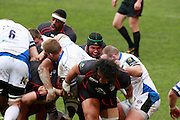 Thierry Dusautoir forces the pack forward.Stade Toulousain v Bath, European Champions Cup 2015, Stade Ernest Wallon, Toulouse, France, 18th Jan 2015.
