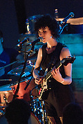 Annie Clark performs as St. Vincent at the Mohawk Club in Austin Texas, June 19, 2009. Annie Clark (b. 1982, Tulsa, OK) is an American multi-instrumentalist, singer and songwriter who performs under the moniker St. Vincent. She was a member of The Polyphonic Spree and Sufjan Stevens' touring band.
