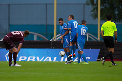 ND Gorica players during football match between NK Triglav Kranj and ND Gorica, 7th Round of Prva Liga, on 26 August, 2012, in Sportni center, Kranj, Slovenia. (Photo by Grega Valancic / Sportida)
