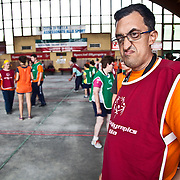 Italy, Biella- Italian National Games 2012 - Bocce is an Italian game.  The basic principle of the sport is to roll a bocce ball closest to the target ball, whcih is called a pallina.  Booce as a Special Olympics sport provides people with special needs the opportunity to have social contact, develop physically and to gain self-confidence.  Next to Soccer and Golf, Bocce is the third most participated sport in the world.