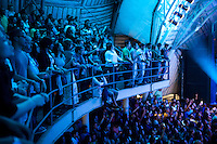 Fans of Brazilian singer Roberta Sa at the Circo Voador, a large music venue located behind the famous arches (aqueduct) in Lapa, the district known for nightlife, in Rio de Janeiro, Brazil, on Saturday, June 16, 2013.