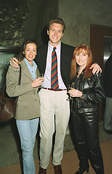 Left to right, actress LORRAINE CHASE, sport commentator CHRIS BAILEY and singer ROSE-MARIE, at a luncheon in France on April 23rd 1997.LXX 65