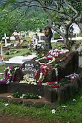 Paul Gauguin gravesite, Atuona, Marquesas, French Polynesia<br />