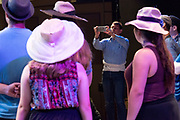 "JULY 8, 2018  LANCASTER, OHIO:<br /> <br /> Director of Theater, A. Victor Jones uses his phone to record video in the Wagner Theater during a rehearsal for the production of ""Hello, Dolly!"" at Ohio University Lancaster."