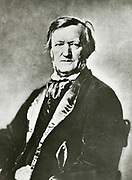 '(Wilhelm) Richard Wagner (1813-1883) German composer, conductor, and theatre director. He built the Bayreuth Festspielhaus which opend in 1876 with ''Das Rheingold'' to stage his music dramas. Photograph.'