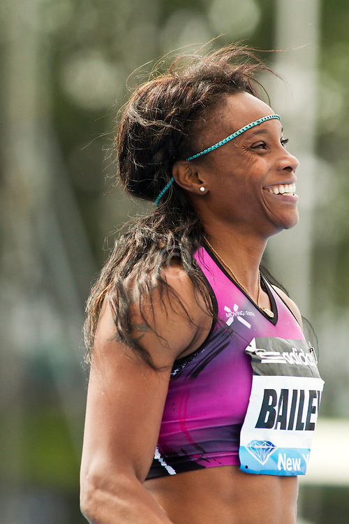 adidas Grand Prix professional track & field meet: womens 100 meters, Aleen BAILEY, Jamaica