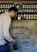 The Ginjinha or A Ginjinha Espinheira, at Largo São Domingos, in Rossio in Lisbon. November 17, 2015.