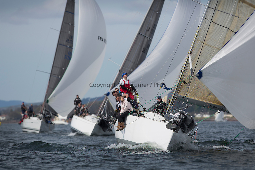 RWYC's Savills Kip Regatta  9-10th May 2015 <br /> Excellent conditions for the opening racing of the Clyde Season<br /> <br /> Class 2's Now or Never 3, sailed by Neill Sandford<br /> <br /> Credit : Marc Turner / PFM