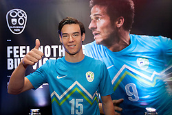 Rene Krhin during presentation of new Nike jerseys of Slovenian Nathional Football Team, on February 28, 2012 in Grand Hotel Metropol, Portoroz, Slovenia.  (Photo By Vid Ponikvar / Sportida.com)