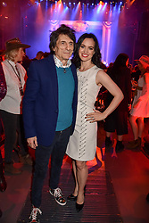 Ronnie Wood and Sally Humphreys at the Save The Children's Night of Country at The Roundhouse, London England. 2 March 2017.