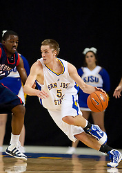 November 30, 2009; San Jose, CA, USA;  San Jose State Spartans guard Justin Graham (5) during the first half against the Saint Mary's Gaels at the Event Center Arena.  Saint Mary's defeated San Jose State 78-71.