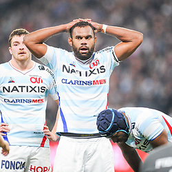Leone Nakarawa of Racing 92 looks dejected during the Top 14 match between Racing and Toulouse on February 17, 2019 in Nanterre, France. (Photo by Sandra Ruhaut/Icon Sport) - Leone NAKARAWA - Paris (France)
