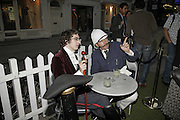 Ian Valentine ( Frisax) and Alex Bett ( Albion ) , The Last Tuesday Society. Summer Tea party sponsored by Hendrick's Gin. 43 South Molton St. London W1. ONE TIME USE ONLY - DO NOT ARCHIVE  © Copyright Photograph by Dafydd Jones 66 Stockwell Park Rd. London SW9 0DA Tel 020 7733 0108 www.dafjones.com
