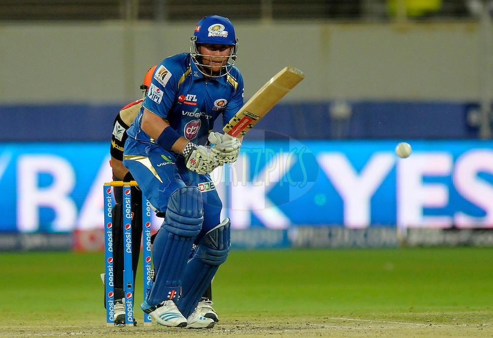 Ben Dunk of the Mumbai Indians  bats during match 20 of the Pepsi Indian Premier League Season 2014 between the Mumbai Indians and the Sunrisers Hyderabad held at the Dubai International Stadium, Dubai, United Arab Emirates on the 30th April 2014<br /> <br /> Photo by Pal Pillia / IPL / SPORTZPICS