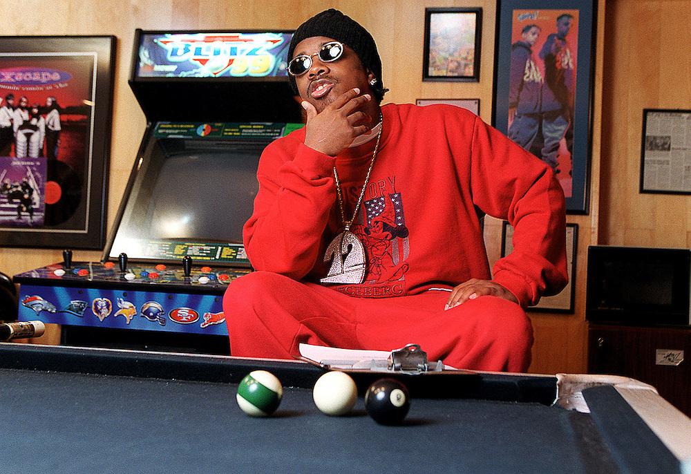 Portrait of hip-hop producer Jermaine Dupri at his home in Atlanta.