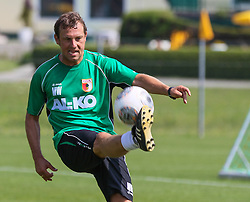 14.07.2013, Walchsee, AUT, FC Augsburg, Trainingslager, im Bild Fussball-Tennis am ersten Trainingstag, am Ball Markus WEINZIERL (Trainer FC Augsburg) // during a trainings session of German 1st Bundesliga club FC Augsburg at their training camp in Walchsee, Austria on 2013/07/14. EXPA Pictures &copy; 2013, PhotoCredit: EXPA/ Eibner/ Klaus Rainer Krieger<br /> <br /> ***** ATTENTION - OUT OF GER *****
