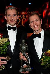 17-12-2013 ALGEMEEN: SPORTGALA NOC NSF 2013: AMSTERDAM<br /> In de Amsterdamse RAI vindt het traditionele NOC NSF Sportgala weer plaats. Op deze avond zullen de sportprijzen voor beste sportman, sportvrouw, gehandicapte sporter, talent, ploeg en trainer worden uitgereikt / (L-R) Robert Meeuwsen, Alexander Brouwer <br /> ©2013-FotoHoogendoorn.nl