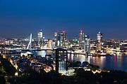 Skyline Rotterdam at night