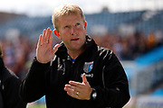 Gillingham FC head coach (manager) Adrian Pennock during the EFL Sky Bet League 1 match between Gillingham and Bradford City at the MEMS Priestfield Stadium, Gillingham, England on 12 August 2017. Photo by Andy Walter.