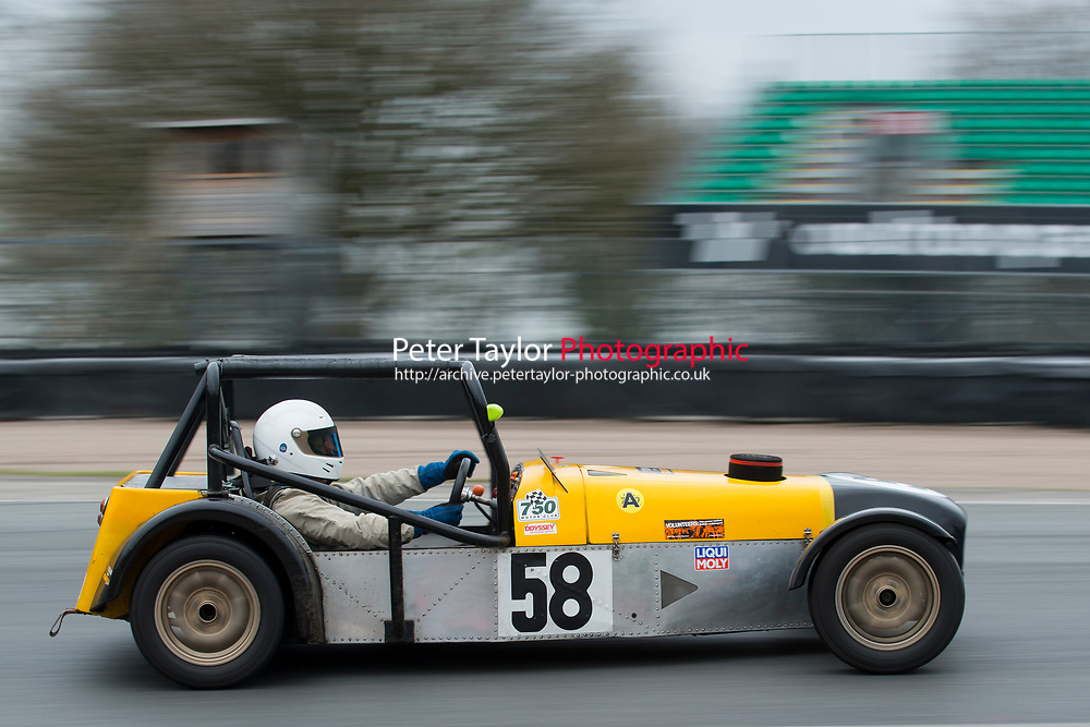 #58 Anthony May Locost 7 during Demon Tweeks / Yokohama Locost Championship as part of the 750 Motor Club at Oulton Park, Little Budworth, Cheshire, United Kingdom. April 01 2017. World Copyright Peter Taylor/PSP. Copy of publication required for printed pictures.  Every used picture is fee-liable. http://archive.petertaylor-photographic.co.uk