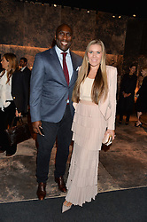 SOL CAMPBELL and FIONA BARRATT at the PAD London 10th Anniversary Collector's Preview, Berkeley Square, London on 3rd October 2016.