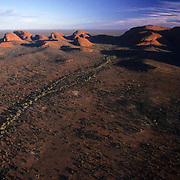 Ayers or Uluru National Park. The Olgas, rock formations. Australia.