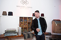 Kieran Molloy from Molloy  & Sons Weaving, Donegal at the  Jameson The Black Barrel Craft Series  at Old printing works, Market Street with music by Corner boy.  Photo:Andrew Downes