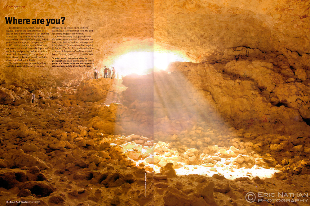 Double-page spread of one of my Qatar images in Condé Nast Traveller Magazine.
