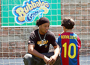 Brazilian superstar Ronaldinho meets students at his own football academy based in Porto Alegre, the Ronaldinho Football Academy (RFA) is run jointly by Ronaldinho?s brother Assif da Silva Moreira, and Ronaldinho?s cousin brother Edmilson. Porto Alegre, Brazil, 27/12/06...