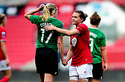 Frankie Brown of Bristol City shakes hands with Megan Connolly of Brighton and Hove Albion Women - Mandatory by-line: Ryan Hiscott/JMP - 07/09/2019 - FOOTBALL - Ashton Gate - Bristol, England - Bristol City Women v Brighton and Hove Albion Women - FA Women's Super League
