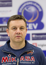 Head coach Igor Kolakovic at press conference of volleyball club ACH Volley before new season 2010/2011, on November 5, 2010, in Ljubljana, Slovenia. (Photo by Vid Ponikvar / Sportida)