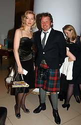 LADY HELEN TAYLOR and CHARLEY BOORMAN at a Burns Night supper in aid of Clic Sargent & Children's Hospital Association Scotland hosted by Ewan McGregor, Sharleen Spieri and Lady Helen Taylor at St.Martin's Lane Hotel, 45 St Martin's Lane, London on 25th January 2006.<br />