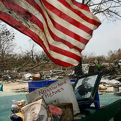 Family memories left on a porch along Washington St. in Bay St. Louis ,Mississippi during the aftermath of Hurricane Katrina Monday, September 5, 2005 in Mississippi. <br /> (Pasadena Star-News Keith Birmingham)