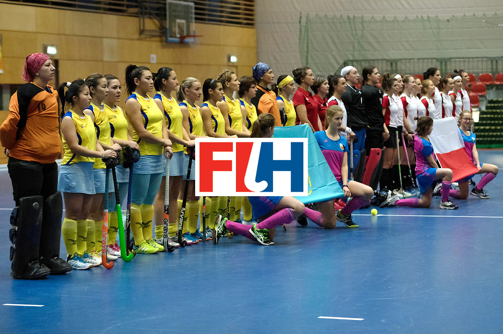 BERLIN - Indoor Hockey World Cup<br /> Poland - Kazachstan<br /> foto: Kazachstan<br /> WORLDSPORTPICS COPYRIGHT FRANK UIJLENBROEK