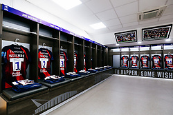 General View in the Bristol Bears dressing room at Ashton Gate before the players arrive - Rogan/JMP - 18/10/2019 - RUGBY UNION - Ashton Gate Stadium - Bristol, England - Bristol Bears v Bath Rugby - Gallagher Premiership Rugby.
