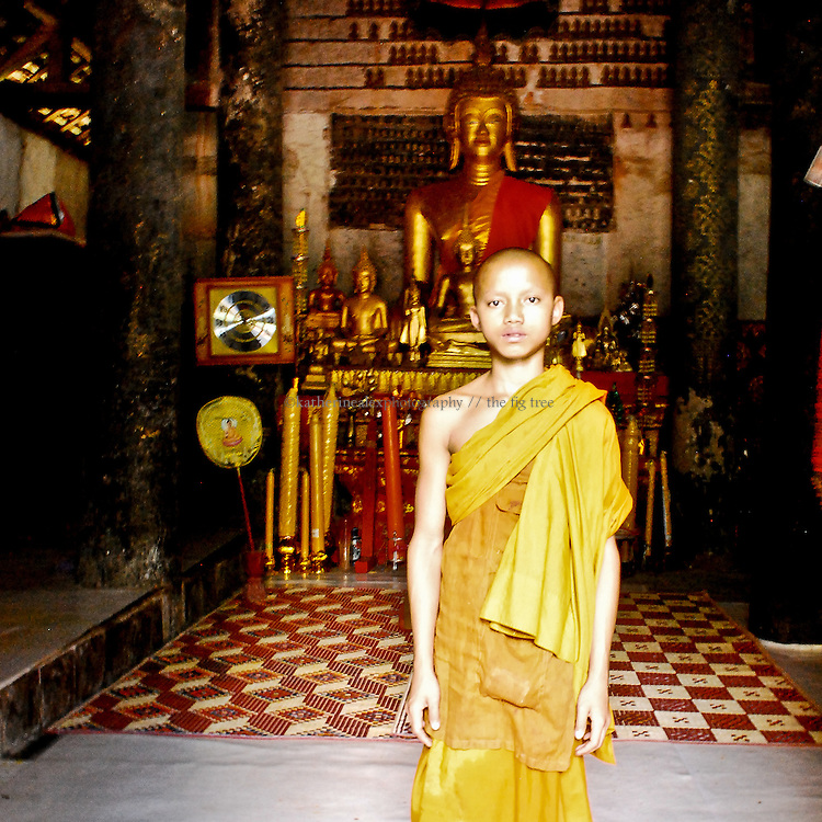 Novice Laotian Monk, around age 11.<br />