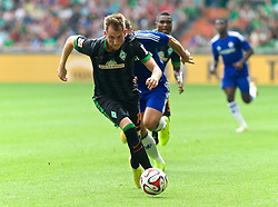03.08.2014, Weserstadion, Bremen, GER, Testspiel, SV Werder Bremen vs FC Chelsea, im Bild Izet Hajrovic (SV Werder Bremen #14) am Ball // during a friedly match between SV Werder Bremen and Chelsea FC at the Weserstadion in Bremen, Germany on 2014/08/03. EXPA Pictures © 2014, PhotoCredit: EXPA/ Andreas Gumz<br /> <br /> *****ATTENTION - OUT of GER*****