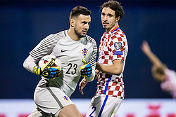 Danijel Subasic of Croatia during the football match between National teams of Croatia and Greece in First leg of Playoff Round of European Qualifiers for the FIFA World Cup Russia 2018, on November 9, 2017 in Stadion Maksimir, Zagreb, Croatia. Photo by Ziga Zupan / Sportida