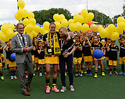 Den Bosch's  career celebratopns after the final of the EHCC 2017 at Den Bosch HC, The Netherlands, 5th June 2017